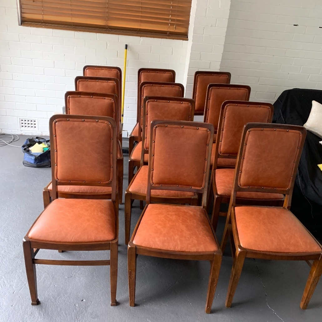 Restore leather dining chairs