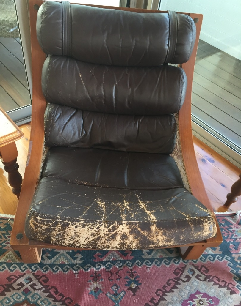 Before - Restoration of leather chair